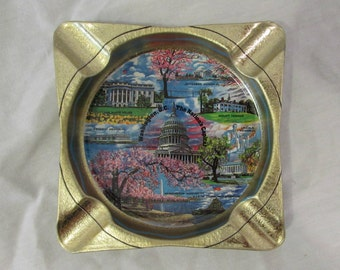 Ashtray, Metal, Souvenir of Washington DC, The Nations Capital, 1960's