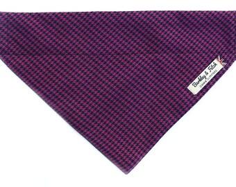 Purple Houndstooth Check Dog Bandana