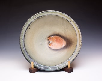 Wood Fired Porcelain Blend Serving Bowl - Shino Slip Liner, 0521003