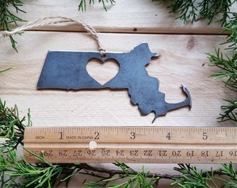 California San Diego Christmas Ornament Raw Steel Personalize