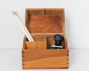 Wood Storage Box - Office - Desk - Organizatioin