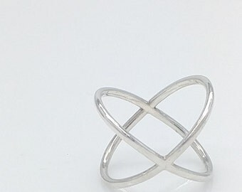 Womens sterling silver Hugs & Kisses  Ring