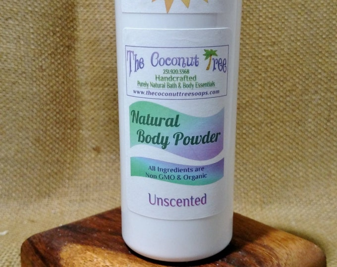 Unscented Powder / Aluminium Free / Coconut Oil / Organic Deodorant / Non GMO / Safe / Great for Cancer Patients