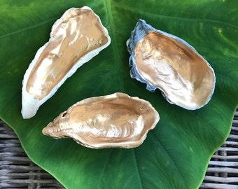 Oyster Shell Ring Dish / Gold Oyster Ring Dish / Bridesmaid Gift / Ring Dish