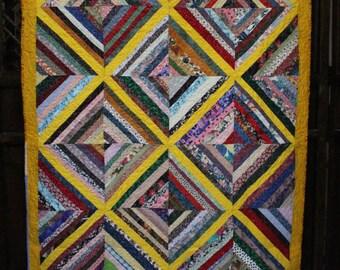Small new handmade Quilt Diagonal Design