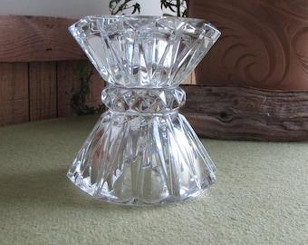 Crystal Candlestick Holder Haystack Style Vintage Lighting