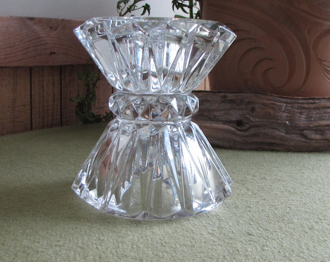 Crystal Candlestick Holder Haystack Style Vintage Lighting