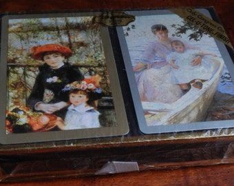Unopened Renoir Double Boxed Set of Congress Playing Cards!