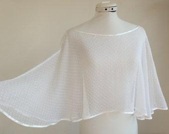 Wedding satin chiffon Cape, marriage, married, cache-shoulder accessory accessory custom silk