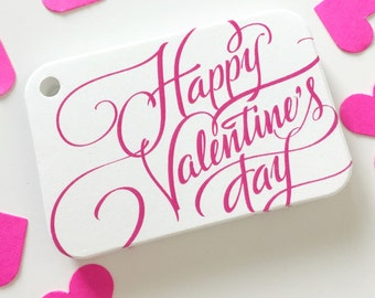 Love Tags, Valentine's Day Favor Tags, Happy Valentine's Day Tags, Treat Bag Hang Tags (RR-325)