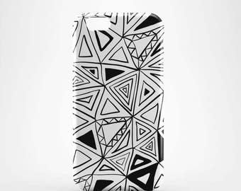 Black and White geometric Hard case 3D case Apple iPhone 4 5 6 7 Samsung Galaxy S6 S7  #91