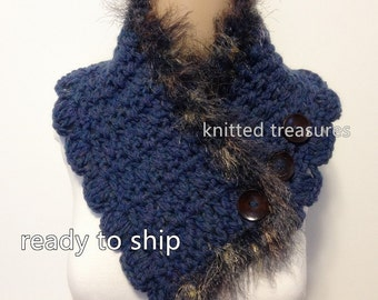 Clearance Only One Wool Soft Neckwarmer Scarf Not Itchy