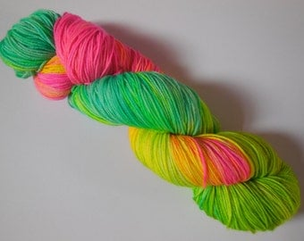 Tropical Hand Dyed Superwash Merino Sock Yarn