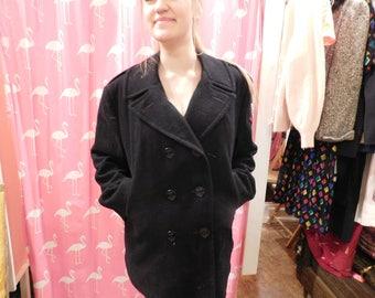 Vintage navy pea coat Men's