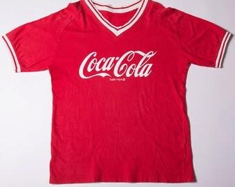 Vintage 1980s Coca Cola Logo Tshirt