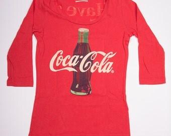 Vintage Coke Coca Cola Long Sleeved 90s Top
