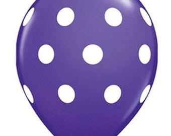 11 inch Polka Dots latex balloon- Purple