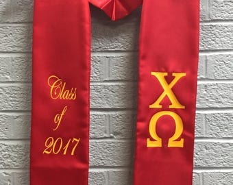 Class of 2017 Custom Greek Stoles