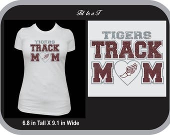 Track Mom T-Shirt, Track and Field
