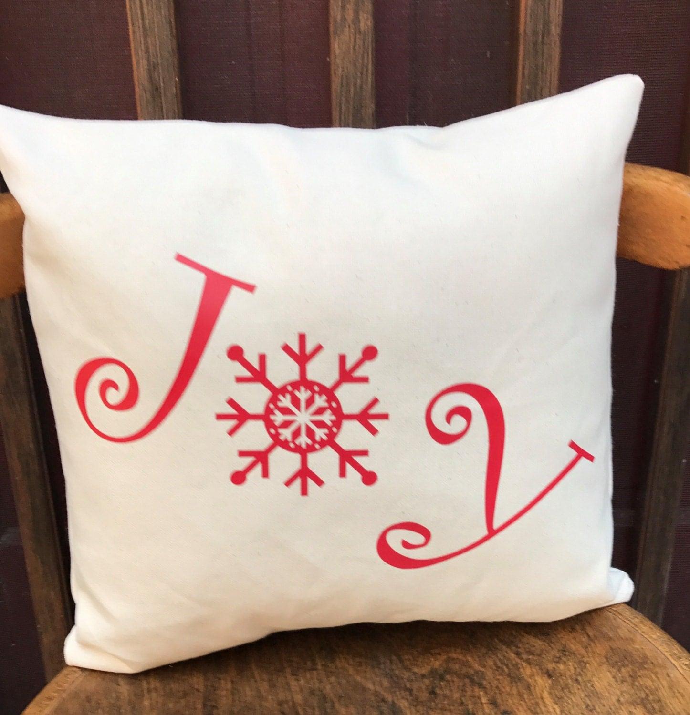 Joy Christmas Throw Pillows : Christmas Joy throw pillow