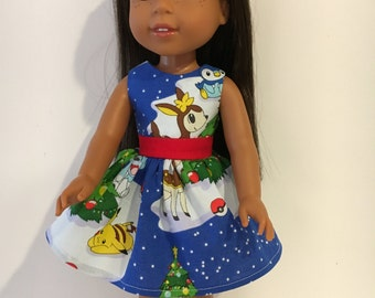 "14.5"" Pokémon Christmas doll dress"