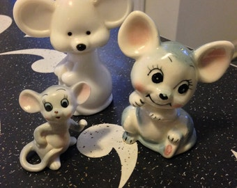 Three Figurines of Mice for the Mouse Collector