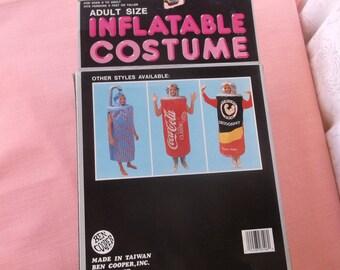 Rare Vintage 70s Halloween Costume by Ben Cooper, Inflatable Shower Costume, Super Cool Pop Art, Ben Cooper of Brooklyn NY Vintage Halloween