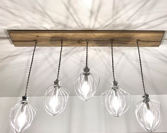 Farmhouse Lighting - Dinning Room Lighting - Farmhouse Lighting - Restaurant Lighting - Bakery Lighting - Whisk Chandelier