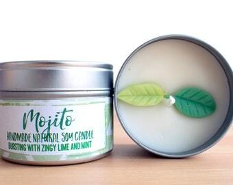 Mojito Natural Soy Wax Candle