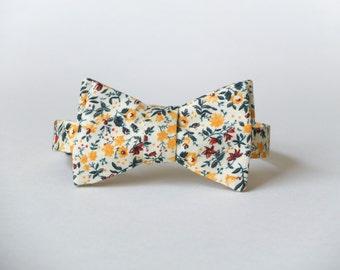 Summer Floral Bow Tie || 100% Vtg Cotton