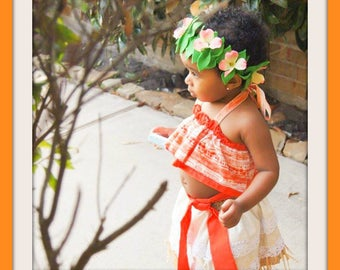 Moana Costume, Hawaiian Princess Costume, Moana Birthday,  Infant Moana, Toddler Moana