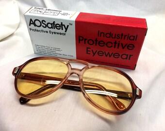 AO Safety Frames / Computer & Gaming Lenses Pilot Style UV400 Anti Radiation Blue Blocker Lenses