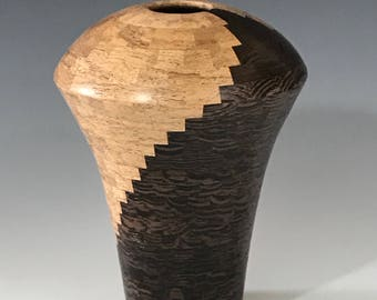 Vase or Vessel, Segmented Woodturning, Wood, Woodturning