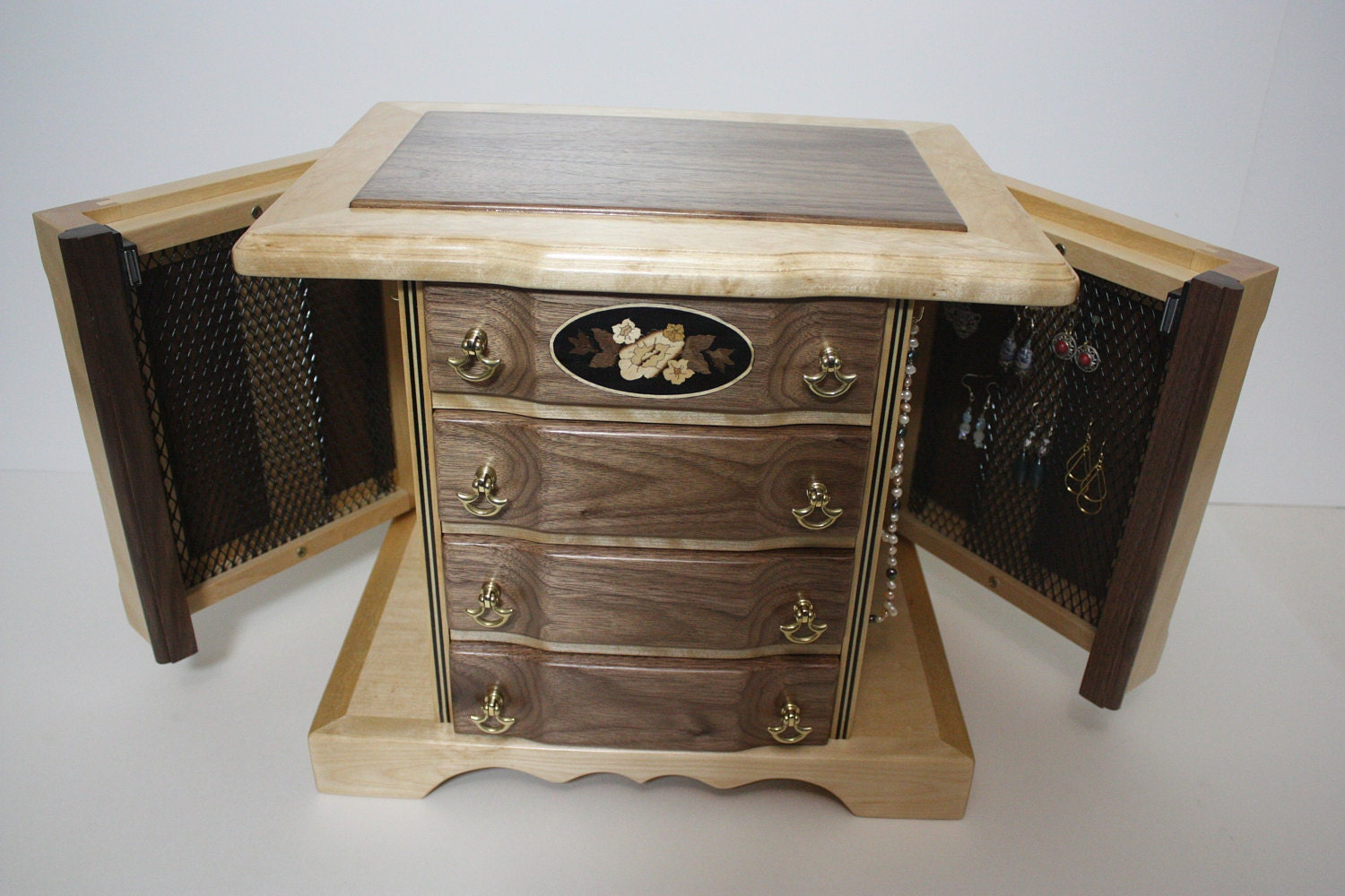 Handmade 4 Drawer Jewelry Box For Sale