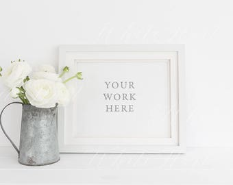 Frame mockup - Stock photography - PSD smart object + .PNG + JPEG - perfect for prints, illustration, painting - Styled frame mock up