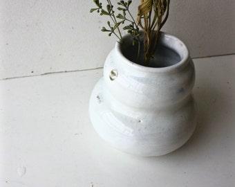 Wood Fired White Vase