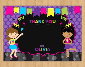 Dance Party 'Thank You' Card