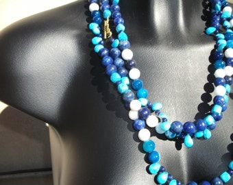 long lapis and turquoise.
