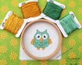 Beginners Mini Owl Cross Stitch Pattern