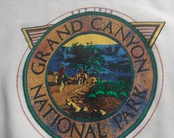 Vintage 90s Grand Canyon National Park Crewneck Sweatshirt Rainbow