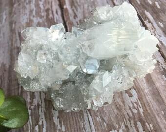 Apophyllite Cluster- Crystalline Apophillite with Stilbite & Calcite