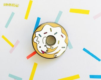 Dognut Enamel Pin