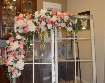 Wedding Arch, Chuppah Arch,  Silk Flower Arch, Wedding table backdrop, Silk Flower Backdrop, Silk Wedding Arch