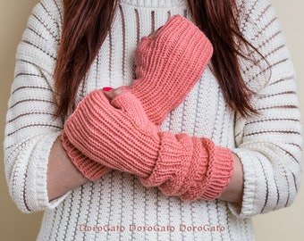 Knit gloves pattern, fingerless gloves pattern, glove mittens pattern, Knit gloves, Instant Download /6002/