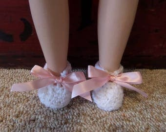 Hand Crocheted Doll Booties