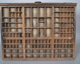 Old original letter press printer's tray  drawer -  letterpress drawer -  lndustrial interior loft decor design - Sachs & Co. AG