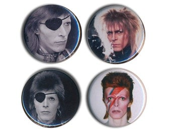 David Bowie Pin Badges Space Oddity 25mm 1inch Badge Labyrinth ziggy stardust flash