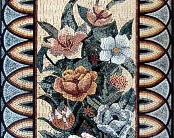 Arched Mosaic Mandala Pattern