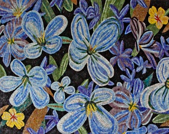 Glass Mosaic Flowers