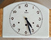RARE original Art Deco Ceramic wall clock JUNGHANS with brass pendulum movement  tested and works very well